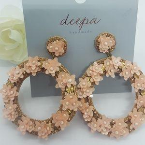 Deepa Gurnani Flower earrings